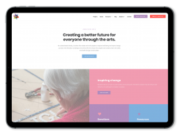 Junction Arts Website Design